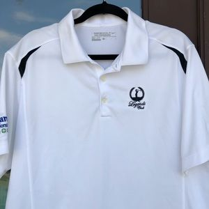 "Nike Golf Tour ""Legends Club"" White Polo L"